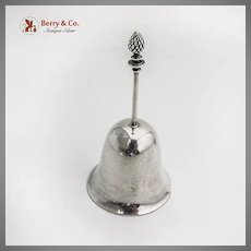 Currier Roby Tea Bell Pinecone Finial Sterling Silver