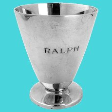 Tiffany Footed Cup Sterling Silver Mono Ralph