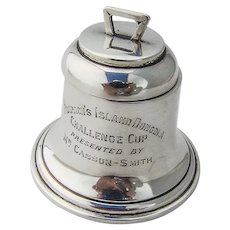 English Bell Form Inkwell Trophy Zimmerman Sterling Silver 1909