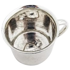 Towle Turtle Baby Childs Cup Sterling Silver Mono Edward