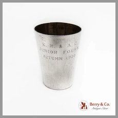 Japanese Shot Cup 950 Sterling Silver 1920 Mono