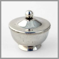 Small Covered Saccharin Bowl Gumps Sterling Silver 1950
