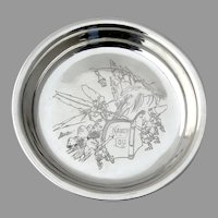 Engraved Nursery Rhyme Baby Bowl International Sterling Silver Mono