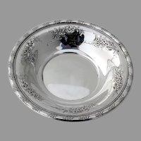 Larkspur Bon Bon Bowl Pierced Wallace Sterling Silver 1939
