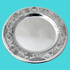 Embossed Nursery Rhyme Baby Plate James Blake Sterling Silver No Mono