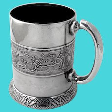 Gorham Japanese Childs Cup Mug Sterling Silver 1872 Date Mark Mono