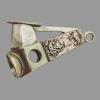 Scenic Cigar Cutter Sterling Silver Panels Steel