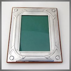 Italian Hammered Rectangle Picture Frame Castellani Sterling Silver