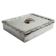 Sanborns Double Compartment Box Agate Inset Sterling Silver Mexico