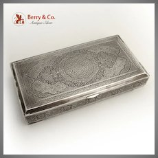 Engraved Persian Box 84 Standard Silver 1890