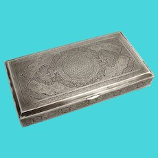 Engraved Persian Box 84 Standard Silver 1890