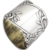 Art Nouveau Floral Figural Napkin Ring Russian 84 Standard Silver 1910s