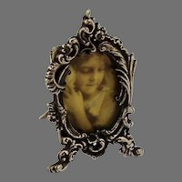 Baroque Style Small Picture Frame Sterling Silver