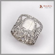 Openwork Engraved Napkin Ring Chinese Export Silver