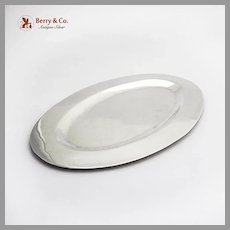 Plain Design Small Oval Tray Sterling Silver