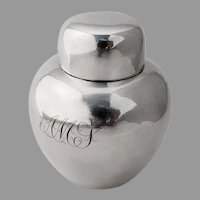 Kirk Son Tea Caddy Sterling Silver 1910s Mono AMS