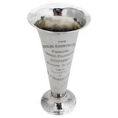 Lebolt Hand Made Golf Trophy Vase Hammered Sterling Silver 1914