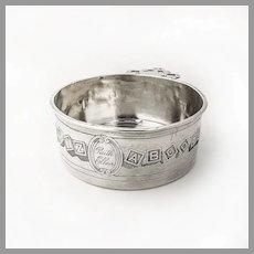 Alphabet Porringer Baby Bowl International Sterling Silver Mono Ruth Ellen