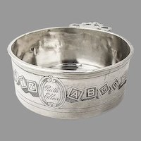 Alphabet Porringer Baby Bowl International Sterling Silver Mono Ruth Ellen