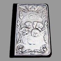 English Reynolds Angels Address Book Sterling Silver 1991 Birmingham