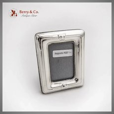 Small Rectangle Picture Frame Italian Sterling Silver Florence