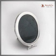 Plain Design Oval Picture Frame Sterling Silver