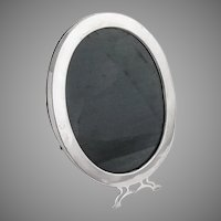 Plain Design Oval Picture Frame Sterling Silver
