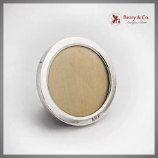 Small Round Form Picture Frame Sterling Silver Mono KCP