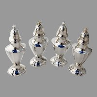 Reed Barton Salt Pepper Shakers Two Pairs No 650 Sterling Silver