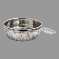 Embossed Nursery Rhyme Baby Bowl Porringer Weidlich Sterling Silver
