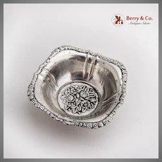 German Repousse Floral Nut Dish Martin Mayer 800 Standard Silver