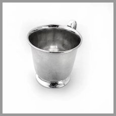 Footed Baby Childs Cup Quaker Sterling Silver 1950 No Mono