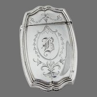 Hepplewhite Engraved Match Safe Reed Barton Sterling Silver 1907 Mono B