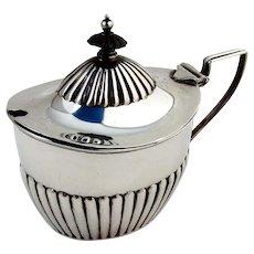 Fluted Mustard Pot Glass Liner Gorham Sterling Silver