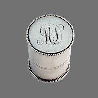 Beaded Rim Thread Holder Sterling Silver 1900 Mono ML