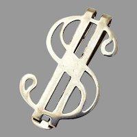 Dollar Sign Form Money Clip Ballou Sterling Silver
