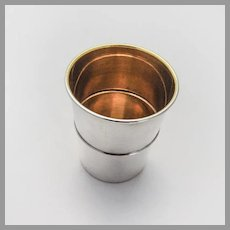 Reed Barton Shot Cup Gilt Interior Sterling Silver No Mono