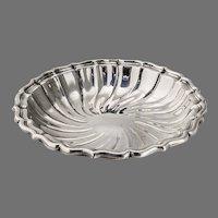 Swirled Flutes Bon Bon Candy Bowl Gorham Sterling Silver 1952 Date Mark