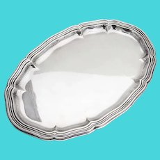 German Oval Thread Dresser Tray Wilhelm Binder 835 Standard Silver 1930s