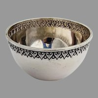 Indonesian Yogya Bowl Ornate Border 800 Silver