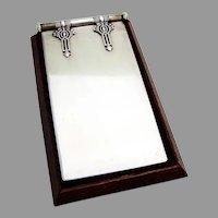 Russian Notebook Wooden Base 84 Standard Silver 1910