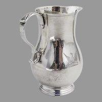 English Creamer Phoenix Crest Harry Freeman Sterling Silver 1924