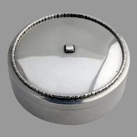 Birks Beaded Rim Round Ribbon Box Sterling Silver Canada