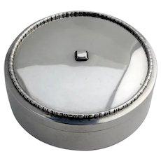 Birks Beaded Rim Round Ribbon Box Sterling Silver Canada