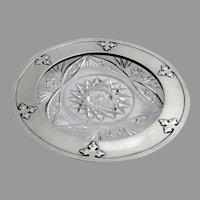 14th Century Coaster Cut Glass Shreve Sterling Silver 1912
