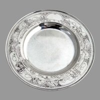 Nursery Rhyme Engraved Baby Shallow Plate William Kerr Sterling Silver