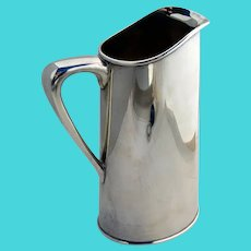 Art Moderne Water Martini Pitcher Hand Made Sterling Silver 1950s