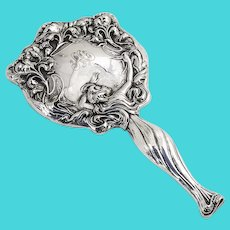 Secret Of The Flowers Hand Mirror Unger Bros Sterling Silver 1903 Mono M