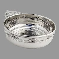 Gorham Scroll Rim Porringer Baby Bowl Sterling Silver No Mono