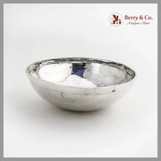 Arts And Crafts Hand Wrought Bowl Hammered Sterling Silver